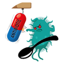 Antibiotika mit Löffel