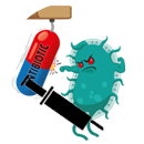 Antibiotika mit Spritze